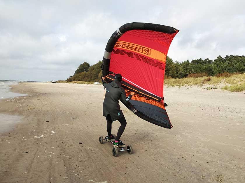 Riedlente su Wing surfer